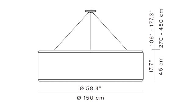 Silenzio diámetro 148.5 cm
