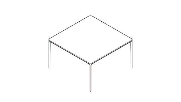 Slim square 160x160x74h