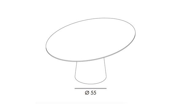 Totem elliptical 200x110x74h