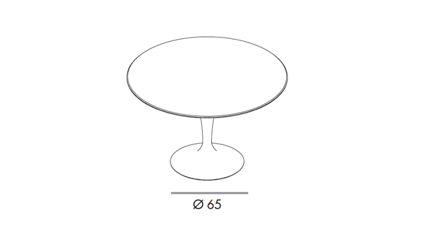 Flute round diámetro 140x74h