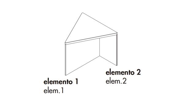 Regolo triangular 55x55x45h