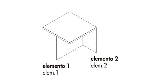 Regolo square 90x90x35h