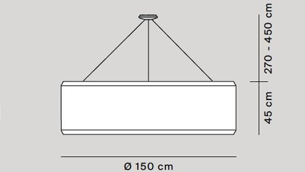 Silenzio diámetro 148,5 cm
