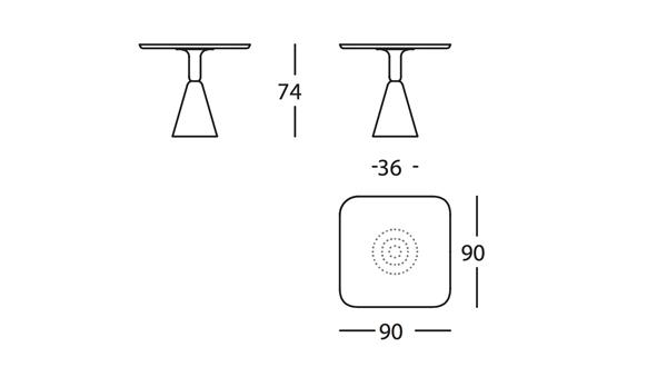 Pion Mesa D90x90x74