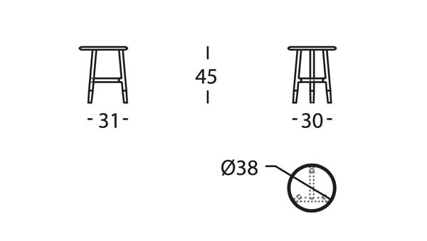 Nudo Mesa D38x45