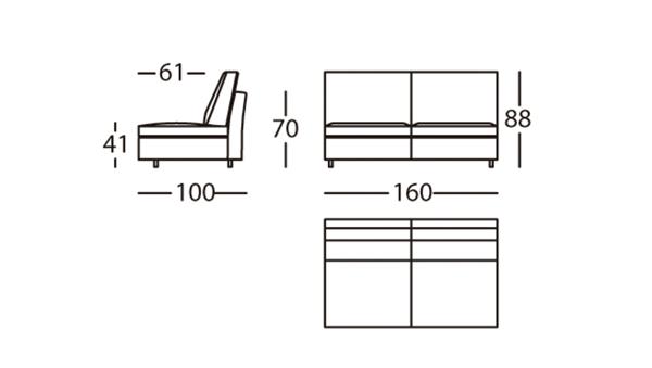 Air Módulo 160 Altura 88