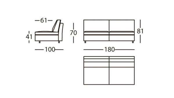 Air Módulo 180 Altura 81