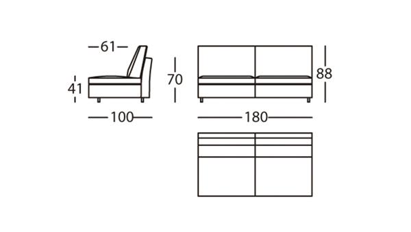 Air Módulo 180 Altura 88