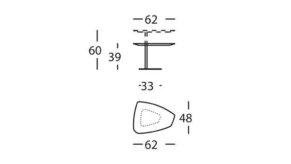 Rock Mesa Elevable 62x48x39/60