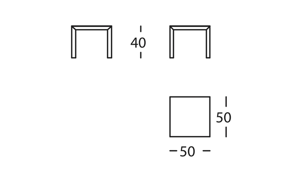 Capas Mesa 50x50x40