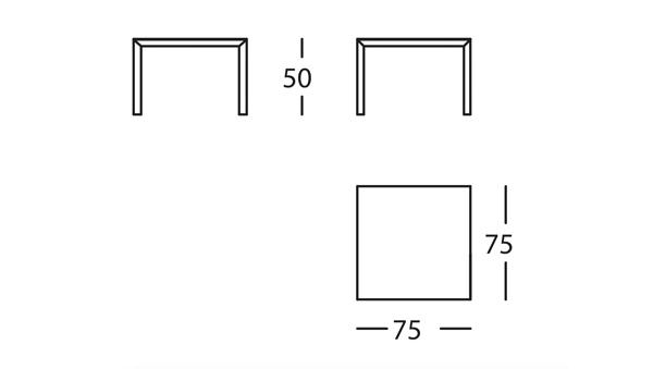 Capas Mesa 75x75x50