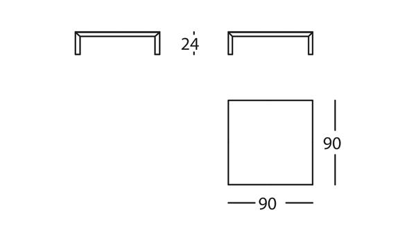Capas Mesa 90x90x24