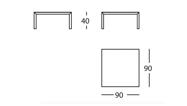 Capas Mesa 90x90x40