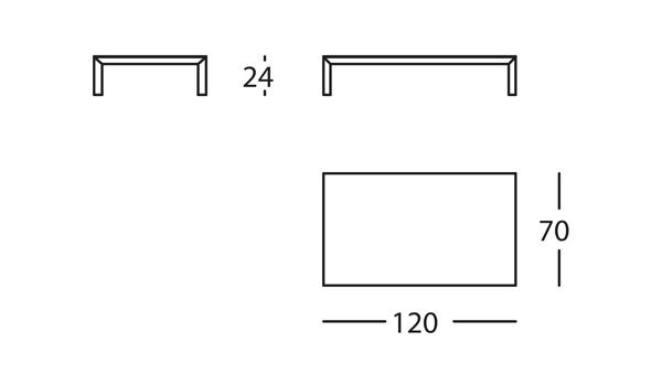 Capas Mesa 120x70x24