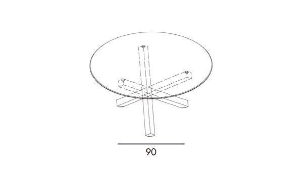 Aikido round diámetro 140x74h