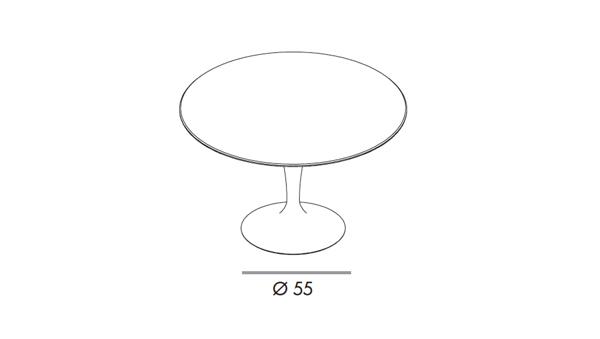 Flute round diámetro 120x74h