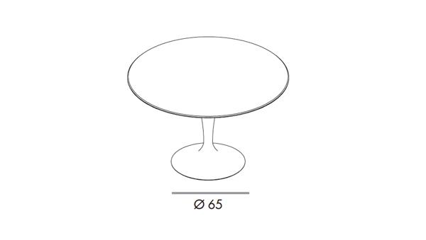 Flute round diámetro 150x74h