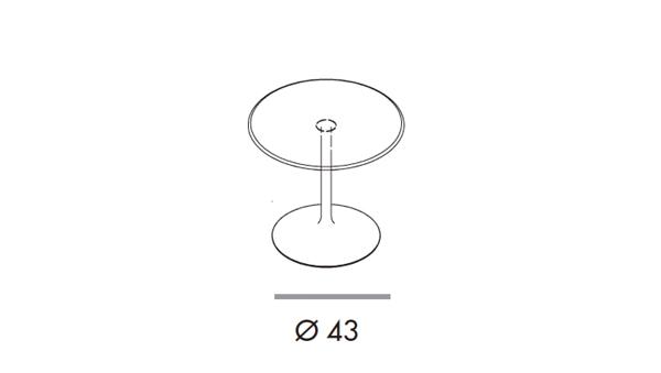 Flute bar diámetro 62x47h