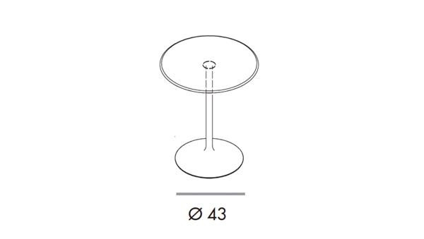 Flute bar diámetro 80x74h