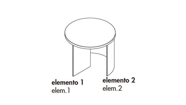 Regolo round diámetro 80x35h