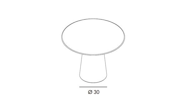 Totem round diámetro 80x74h
