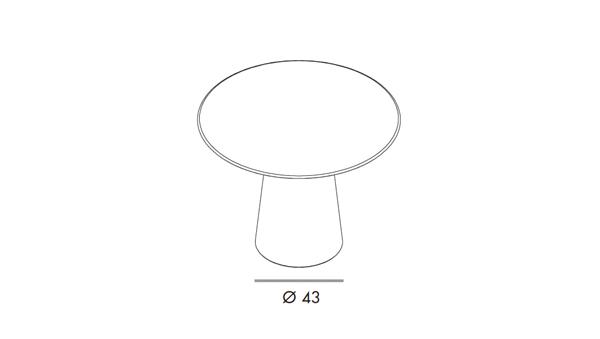 Totem round diámetro 120x74h