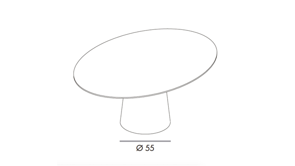 Totem elliptical 180x130x74h