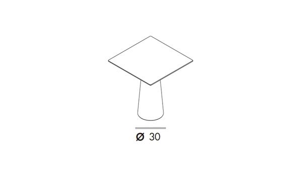 Totem bar 70x70x110h